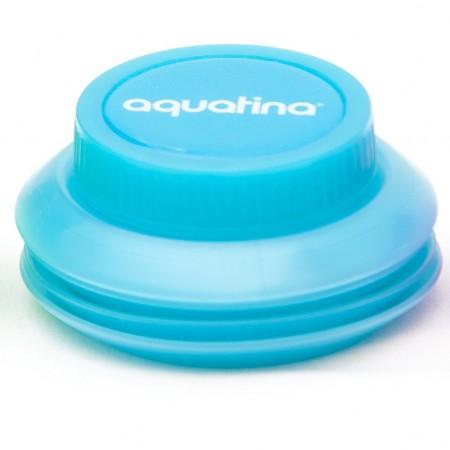 Aquatina blue ingedrukt waterflessenwinkel.nl
