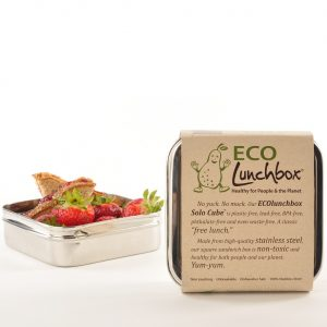 ecolunchbox solocube roestvrijstalen lunchbox