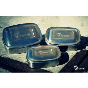 Made Sustained Rectangular lunchbox set of 3