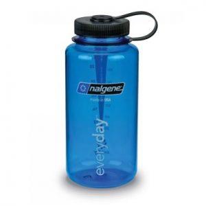 Nalgene bottle Wide Mouth 1l Blue with Black cap