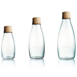 Retap fles met houten dop